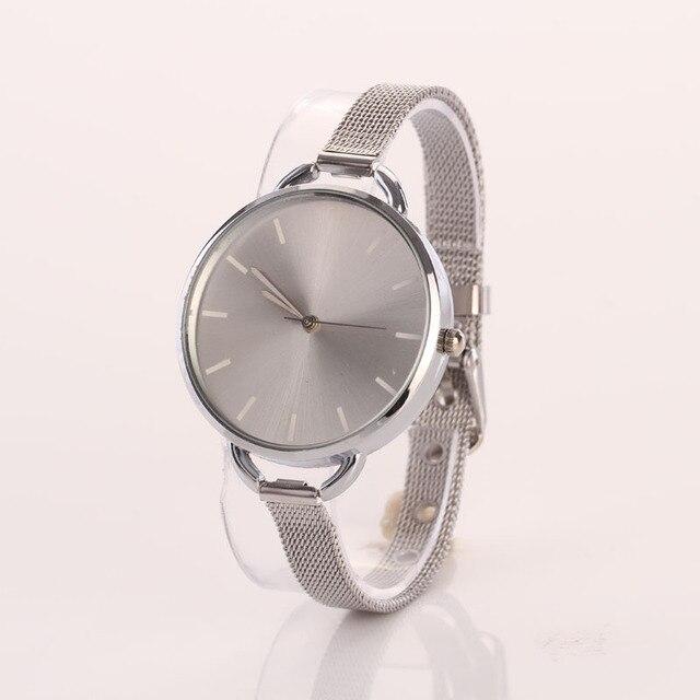 bf546a4c506 De Oro de lujo de Montre Reloj de pulsera de moda de las mujeres de malla  ...
