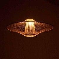 Новый бамбука люстра китайский люстра Nordic Light бамбук