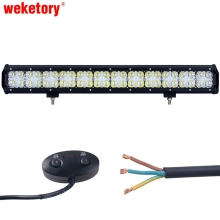 weketory 7D 12LED DRL 23 inch 240W LED Work Light Bar for Tractor OffRoad 4WD 4×4 Truck SUV ATV Spot Flood Combo Beam 12V 24v