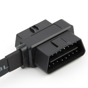 Image 4 - Flat+Thin As Noodle OBDII OBD 2 OBD2 16 Pin ELM327 Male To Dual Female Y Splitter Elbow Extension Connector Cable July Drop Ship