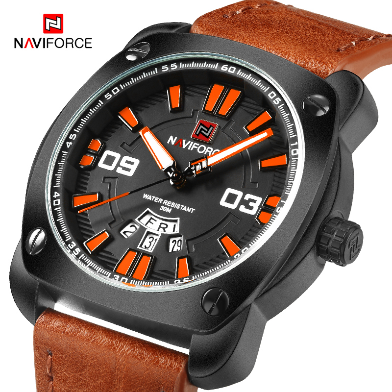 NAVIFORCE Men's Quartz Wristwatches Fashion Luxury Top Brand Watch Men Military Sports Watches Man Clock Male Relogio Masculino new listing men watch luxury brand watches quartz clock fashion leather belts watch cheap sports wristwatch relogio male gift