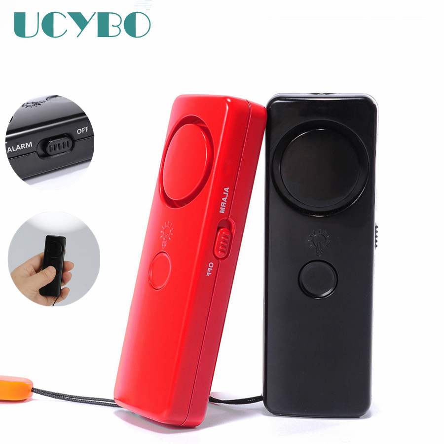 Self Defense Tool Personal Alarm keychain Survival Emergency Security Protection alarm siren Flashing LED light for women kids ...