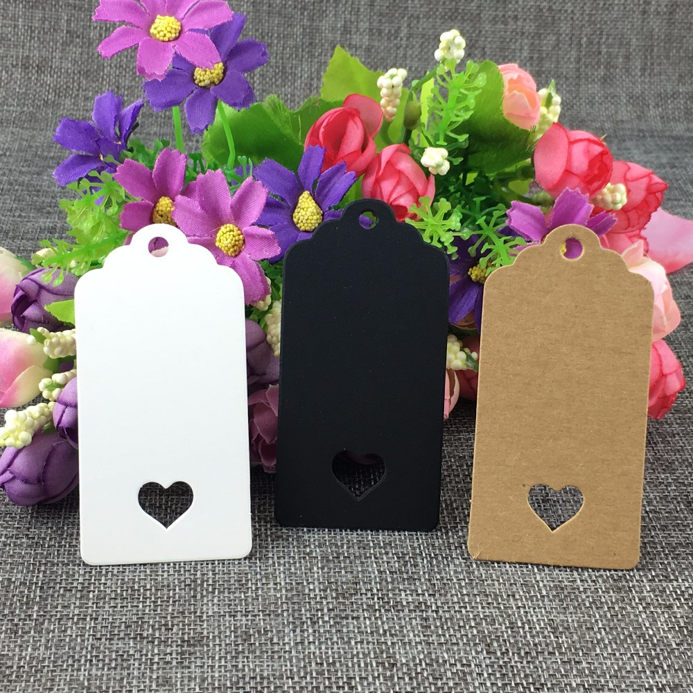 200 pcs DIY Kraft Paper Tags Brown Lace Scallop Head Label Luggage Wedding Note Blank price Hang tag Kraft Gift 8x4cm