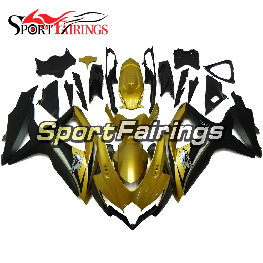 Fairings For Suzuki GSXR 600 750 K8 08 09 10 Year 2008 2009 2010 Injection ABS Motorcycle Fairing Kit Cowlins Gold Black Cowls new hot moto parts fairings for suzuki gsxr1000 00 01 02 black injection fairing kit gsxr 1000 2000 2001 2002 ju115