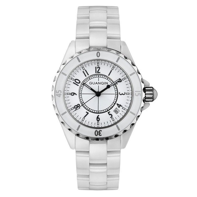 Buy ceramic watch men or women watches original guanqin lovers watches for Ceramic man watch