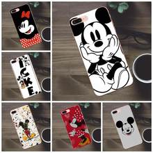 Recentes Mickey Mouse Para Apple iPhone 4 4S 5 5C SE 6 7 8 Plus X Galaxy A3 6S a5 J1 J2 J3 J5 J7 2017 Casos Macio TPU Protector(China)