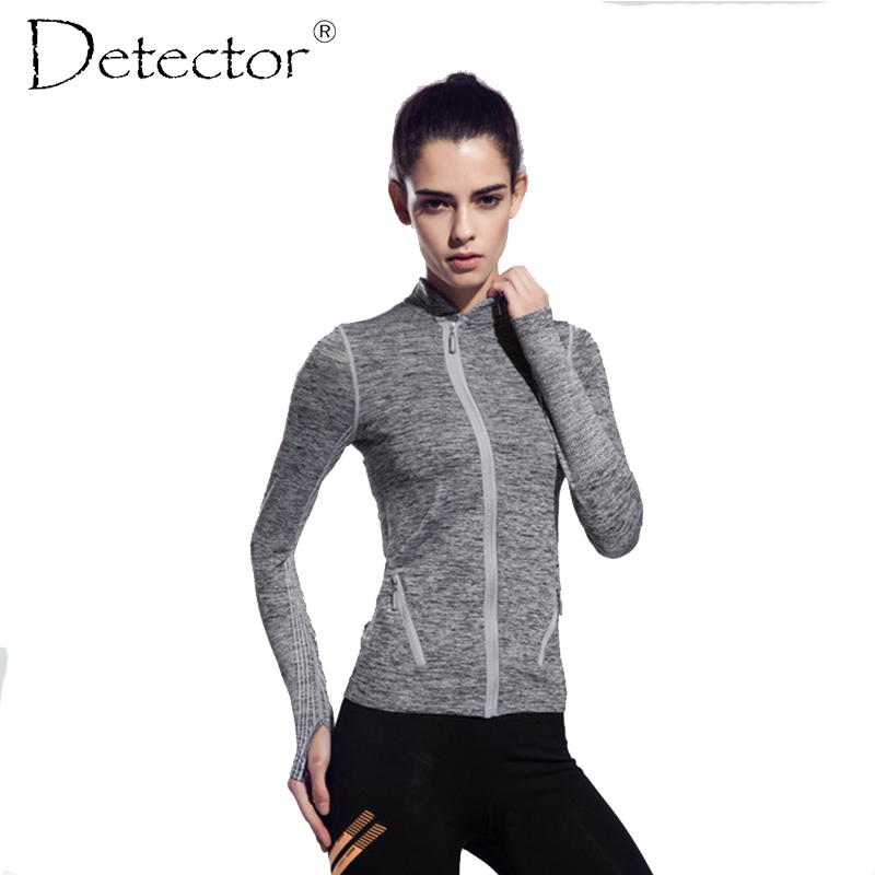 141c45baee908 المرأة طويلة الأكمام قمصان للجري قمم ضغط الجوارب الرياضية اللياقة البدنية  تجريب سريعة الجافة تنفس سترة