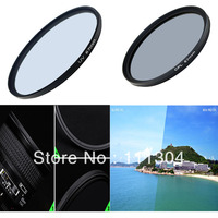 Free Shipping 72mm UV Lens Filter 67mm Circular Polarizing CPL Filter Kit For Canon Nikon 550D