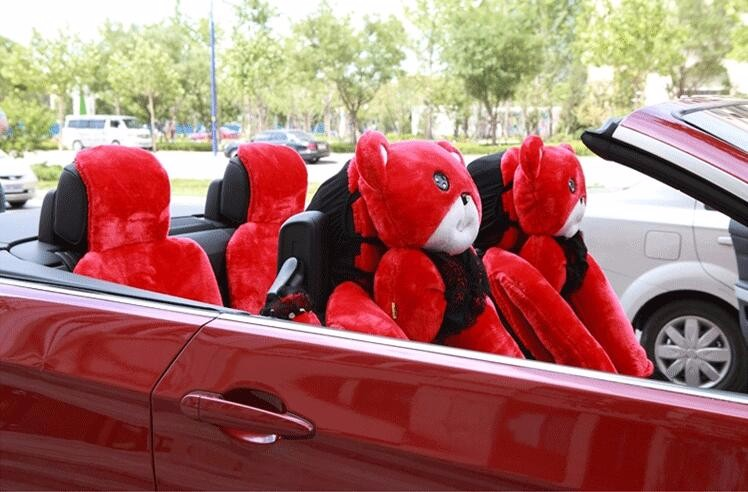 Mei-Mei-Bear-Car-Seat-Cover-Interior-Accessories-Set-Universal-Steering-Wheel-Covers-Milk-Velvet-20