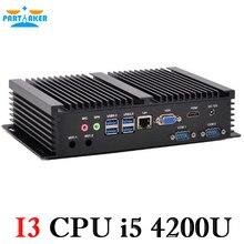 Промышленные ПК Мини-ПК Окна промышленных Мини-ПК с Intel Core i5 4200U 1.6 ГГц безвентиляторный Тихая PC