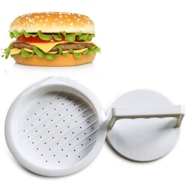 Hot Plastic Hamburger Meat Beef Maker Grill Burger Patty Press Mold Mould  Kitchen Utensils For Hamburger
