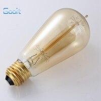 LightInBox E27 40W Retro Edison Style Light Bulbs ST58 Tungsten Lamp Wholesale Price 4piece 220V Incandescent