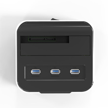 wholesale 2.5″ 3.5inch sata hdd case usb3.0 external hard disk enclosure multifunctional HDD docking station with 3*USB port hub