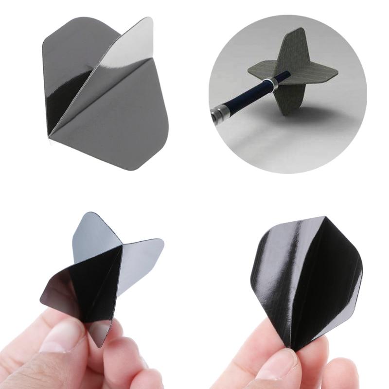 Dart Flights Accessories 30 Pcs/Set High Quality Simple Pure Black PET Dart Flights Dropshipping