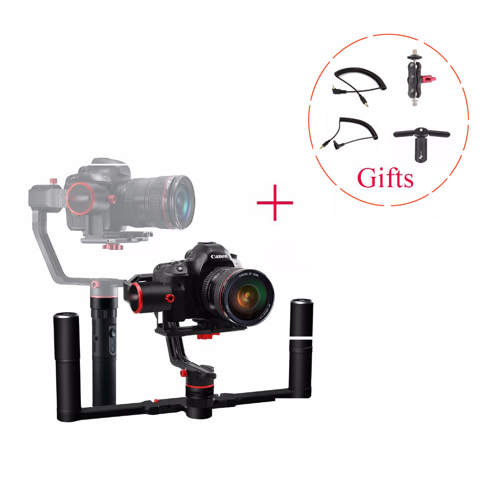 Feiyu Tech Feiyu a2000 3-Axis Gimbal +Dual Handle Stabilizer for Canon 5D Series,for SONY A7 Series a6500, for Panasonic GH4/GH5 beholder ds1 3 axis handhled gimbal stabilzier for canon 5d 6d 7d dslr gh4 gh7 nikon d810 d800 dmc sony a7 nex series