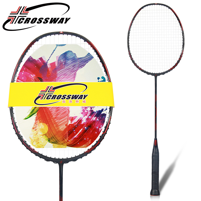 CROSSWAY 1PC offensive type badminton racket raquette de badminton raquetes middle high professional outdoor fitness sports AK49