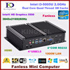 Fanless Barebone Mini PC Core I3 5005U Dual Core Intel HD Graphics 5500 HDMI 2 COM