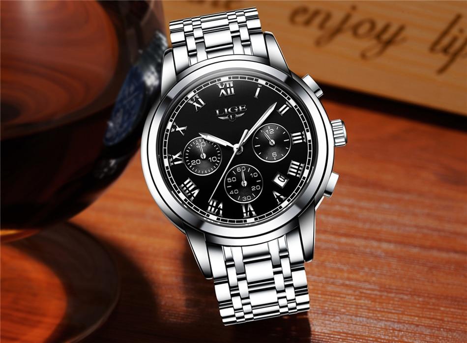 HTB1ma5RfsrI8KJjy0Fhq6zfnpXaC LIGE Men Watches Top Luxury Brand Full Steel Waterproof Sport Quartz Watch Men Fashion Date Clock Chronograph Relogio Masculino