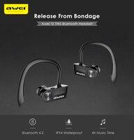 Awei T2 Sweat Proof TWS True Wireless Earbuds Bluetooth 4 2 Sports Headphones On Ear Control