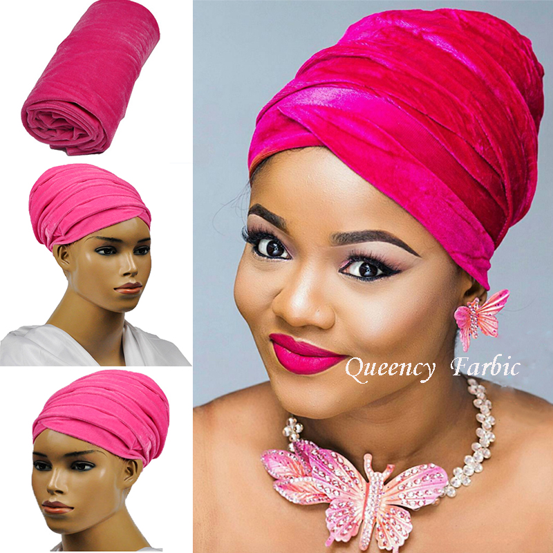 New Fashion African Velvet lace headwrap and scarf, soft African Headtie, African turban, Women's Accessories, Women's Clothing