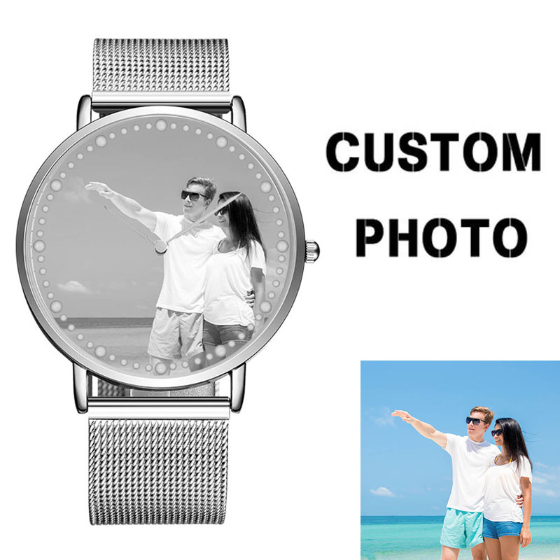 CL024 Customize Dial OEM Brand Logo Watches Printhing Picture Watch Make Your Own Design Wrist Watch For Man Hour Birthday Gift