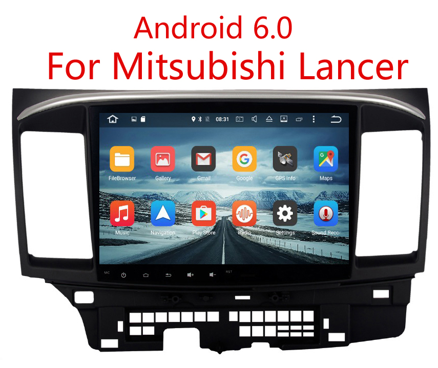 """10.2"""" Android 6.0 Car GPS for Mitsubishi Lancer Stereo Auto Radio Head unit Multimedia -in Car ..."""