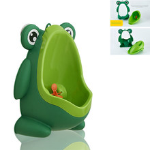 Baby Boy Wall-Mounted Hook Frog Potty Toilet Training Frog Stand Vertical Urinal Penico Pee Infant Toddler Bathroom Frog Urinal(China)