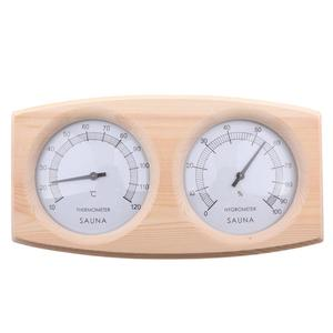 Image 4 - Sauna Room Thermometer Hygrometer Wooden Double Pointer Hygrothermograph Humidity Measurement 20 To 40 Degrees Celsius