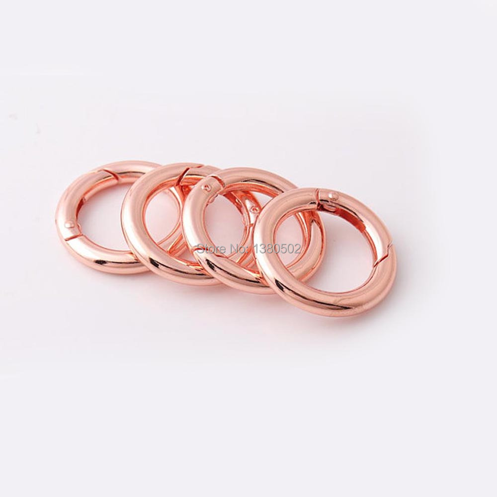 Imported From Abroad 5pcs/lot 28mm O Ring Rose Gold Color Adjustable Spring Buckles For Backpack Leather Craft Preventing Hairs From Graying And Helpful To Retain Complexion Home & Garden Arts,crafts & Sewing