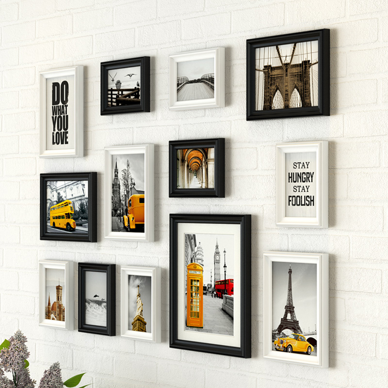 Modern City Style Black White Frames Combinations for Home Decor ...