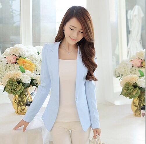 J40391 2019 Spring Fashion OL Business Suit Slim Fit Women Blazers