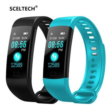 68232136b4d7 SCELTECH Q9 reloj inteligente de la presión arterial de Monitor de sueño  pulsera IP67 impermeable ...