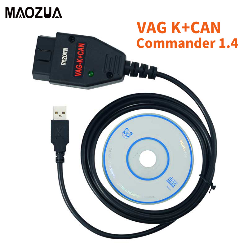 VAG K CAN Commander 1.4 with FTDI FT232RL PIC18F258 Chip OBD2 Diagnostic Interface Cable for VW / AUDI / SKODA / SEAT