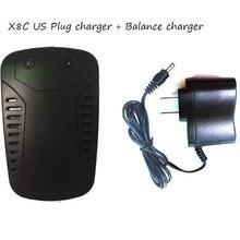 Batterie Adaptateur Chargeur + Équilibre Chargeur pour SYMA X8C RC Quadcopter Hélicoptère Balance Charger