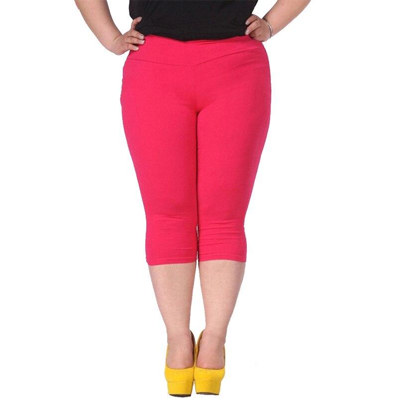 Plus Size Female Elastic   Pants   6XL 5XL 4XL Good Quality Extra Large Size Women   Capris     Pants   Super Stretch Summer   Pant