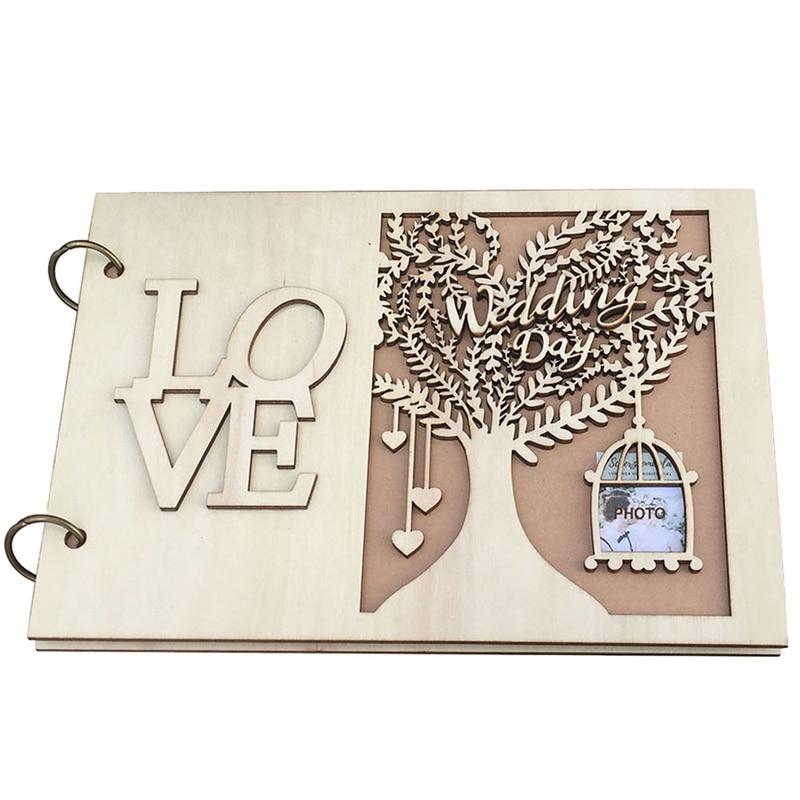NHBR-Wedding Guestbook Wooden Wedding Guest Book Wedding Tree Personalised Guest Book