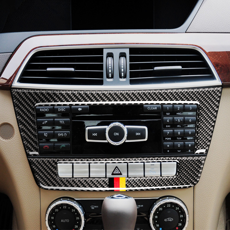 Carbon Fiber Air Conditioning CD Panel Decoration Cover