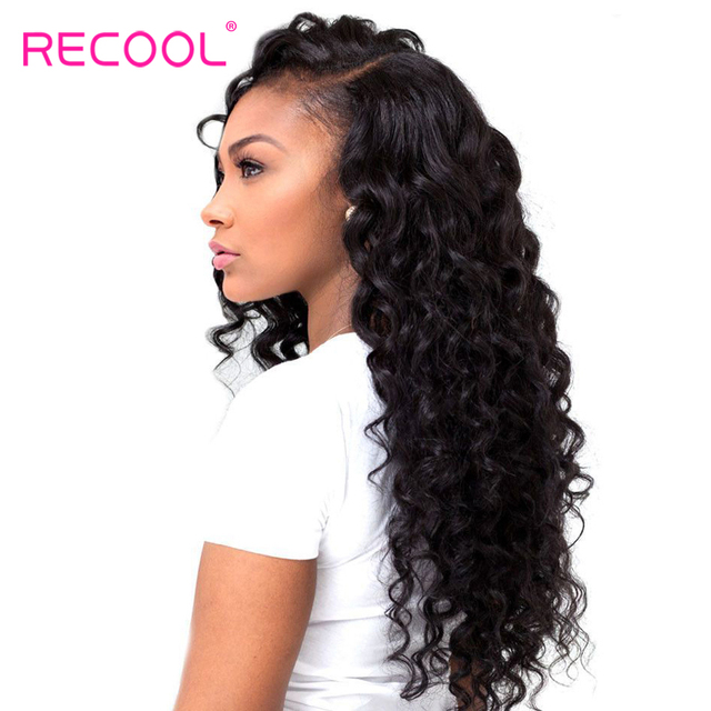 Recool Hair Brazilian Hair Weave 3 Bundles With Closure Remy Human