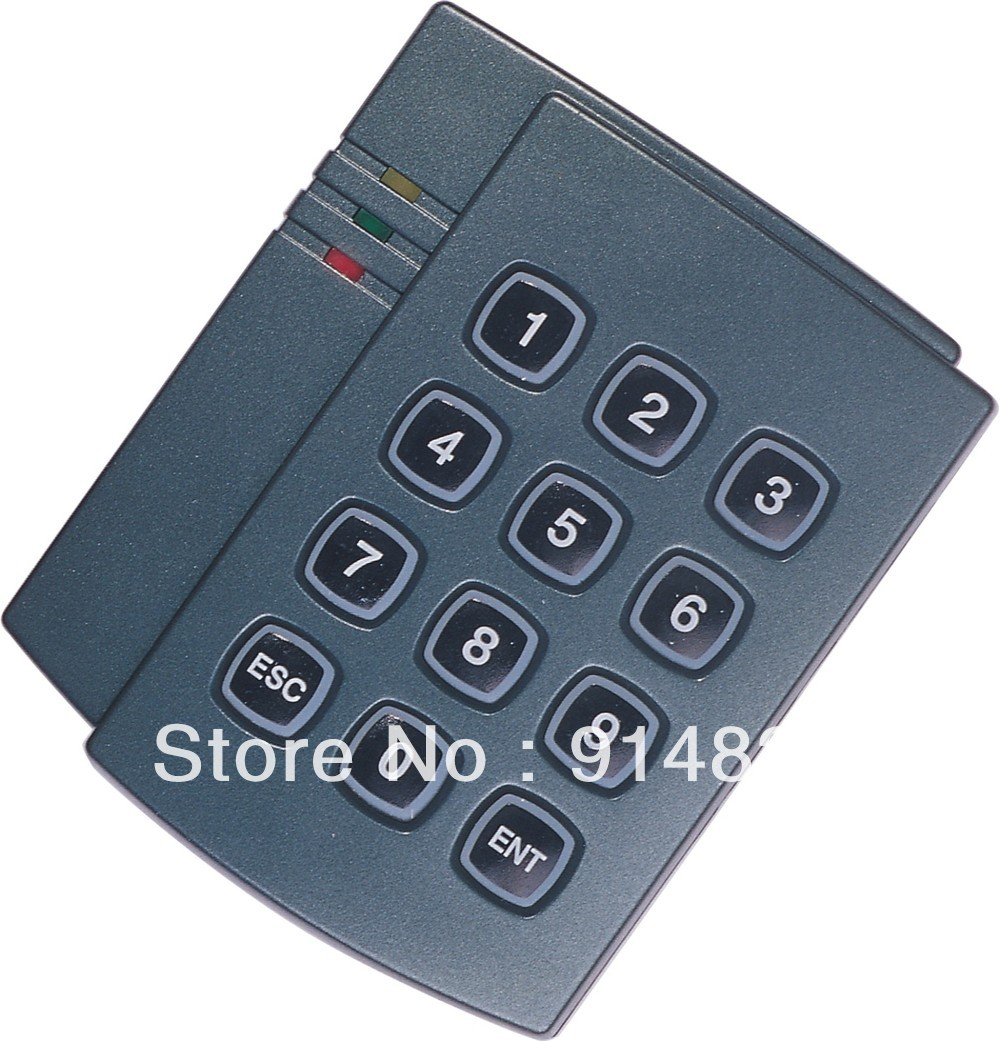 DWE CC RF 5pcs/lot +Free Shipping +keypad access control +EM rfid reader + 125khz+ wiegand 26 output proximity card reader dwe cc rf 13 56 mhz outdoor rfid card reader for access control system wiegand 26 free shipping