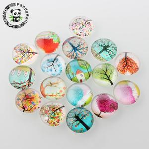 Image 4 - 12mm Tree of Life Printed Half Round Dome Glass Cabochons Mixed Color Jewelry Findings for DIY 200pcs