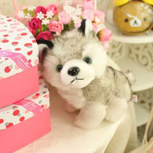Cute 1pcs 18cm Beanie Big Eyes Husky Dog Toy Doll Stuffed Animal Cute Plush Toy Kids Toy Boos 2017