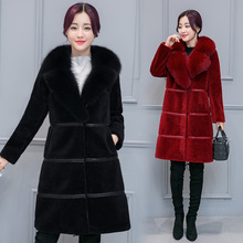 2016 Fashion Women's Winter Sheep Shearing Fur Coat