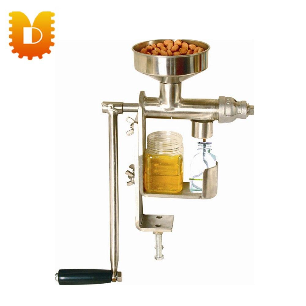 Household manual oil press machine(peanut, sesame seed, sunflower seed,walnut, olive, coconut oil)