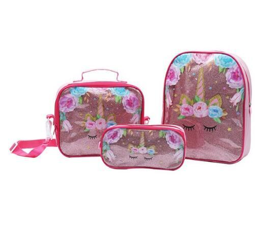Hot Sale Unicorn Kids Cartoon Schoolbags For Girls Boys Cute Kids Backpacks Children School Bag 3 Piece Set