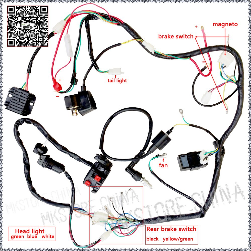 hight resolution of quad wiring harness 200 250cc chinese electric start loncin zongshen wiring chinese diagram atv free50cc quad