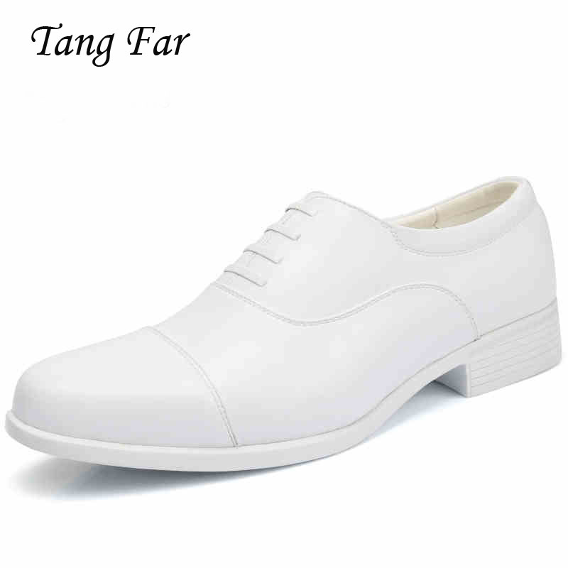 Big Size Men White Wedding Dress Shoes Breathable Three Joint Performance Shoes Men s Pointed Formal