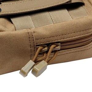 Image 5 - Ao ar livre Militar Tático EDC Saco de Multi função Portátil de Bolso Durável Molle Ferramenta Bolsos Com Zíper Acessórios