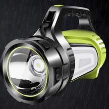 High powerful USB flashlight Searching lamp LED night lighting big side light torches light hand lantern for Camping fishing