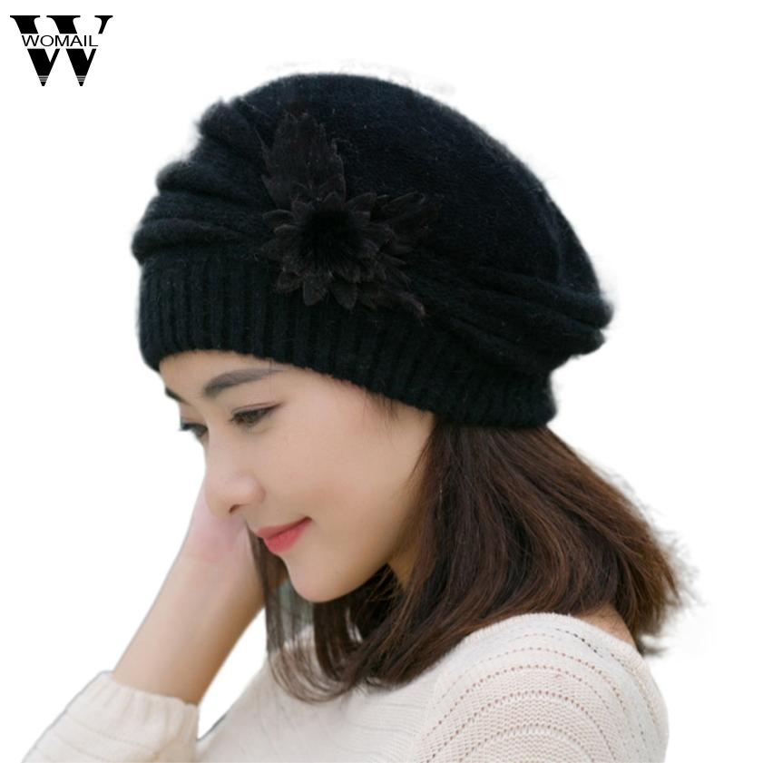 Fashion Winter Beanies Knit Hats For Women Rabbit Fur Velvet Warm Beaded Pearl Ladies Female Beret Bonnets Gorros Mujers Oc31 2016 new fashion letter gorros hats bonnets