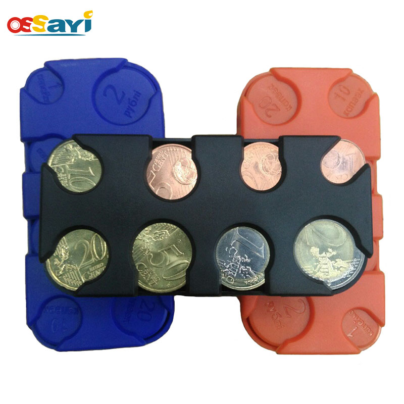 Plastic Russian Ruble Coin Dispenser Storage Box Coin Collection Purse Wallet Organizer Holder For Bus Taxi Coin Change Holder